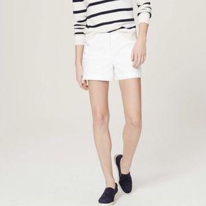 LOFT Size 4 NEW White 6 Inch Inseam Shorts